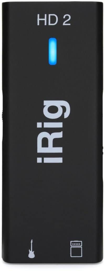 IK Multimedia iRig HD 2 Guitar Interface for iPhone, iPad, Mac and PC. In our opinion, one of the best gifts for guitar players.