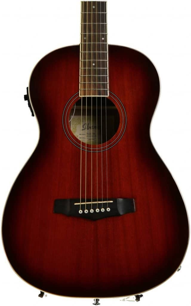 The Ibanez PN12E, which made it to our Ibanez acoustic guitars review.
