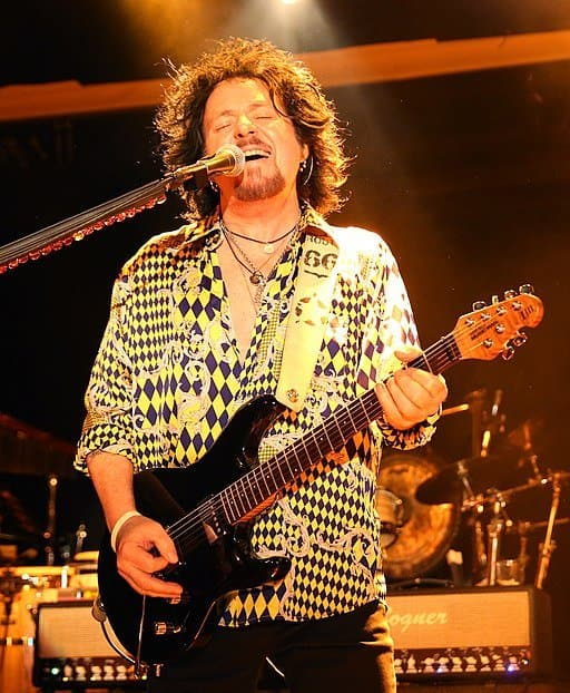 Toto's guitarist Steve Lukather playing live.